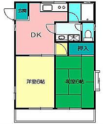 ウイスラービレッヂC[2階]の間取り