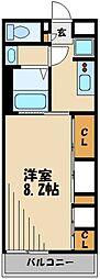西武新宿線 狭山市駅 徒歩7分の賃貸アパート 2階1Kの間取り
