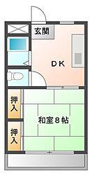 愛知県岡崎市魚町の賃貸マンションの間取り