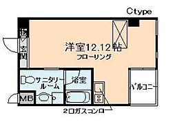 アドバンス・梅田東[4階]の間取り