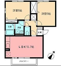 マノワール.ヒサシI[2階]の間取り