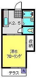 ハイツコジマ[203号室]の間取り