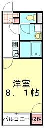 東武東上線 新河岸駅 徒歩21分の賃貸アパート 1階1Kの間取り