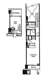 都営浅草線 戸越駅 徒歩2分の賃貸マンション 3階1LDKの間取り