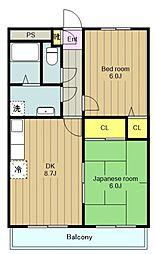 神奈川県綾瀬市大上3丁目の賃貸マンションの間取り