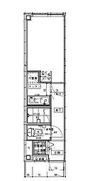 APARTMENT KYODO SETAGAYA II 3階1Kの間取り