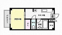 福岡県福岡市西区愛宕3丁目の賃貸アパートの間取り