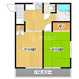 東京都北区十条仲原3丁目の賃貸アパートの間取り