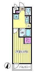 ファミーユ入江 3階1Kの間取り