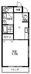 ヒルズ21A[202号室]の間取り