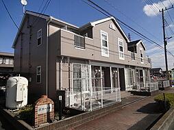 埼玉県草加市新栄1丁目の賃貸アパートの外観