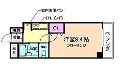 シンフォニーレジデンス柴原[3階]の間取り