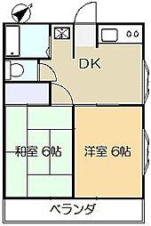 豊島コーポ[206号室]の間取り