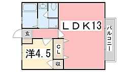 シティ青山[1階]の間取り