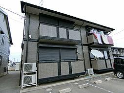 栃木県下野市小金井3丁目の賃貸アパートの外観