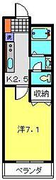 コスモガーデン[203号室]の間取り