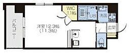 PHOENIX Clove Tomoi 6階ワンルームの間取り