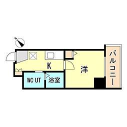 JR東海道・山陽本線 神戸駅 徒歩15分の賃貸マンション 9階1Kの間取り