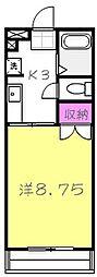 栃木県宇都宮市江曽島4丁目の賃貸マンションの間取り