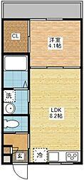 modern palazzoレイール[3階]の間取り