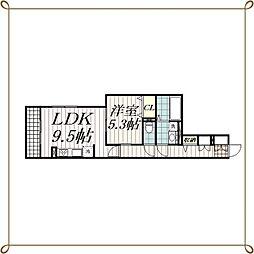 LEXSASU春日(レクサスカスガ)[2階]の間取り