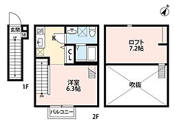 premier(プルミエ)[2階]の間取り