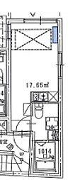 西武新宿線 野方駅 徒歩2分の賃貸マンション 2階ワンルームの間取り