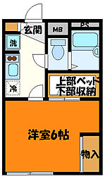 JR中央線 八王子駅 バス28分 純心女子学園下車 徒歩2分の賃貸マンション 1階1Kの間取り