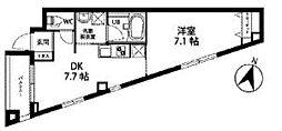JR京浜東北・根岸線 大宮駅 バス10分 住宅前下車 徒歩2分の賃貸マンション 2階1DKの間取り