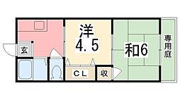 シティハイツ田寺[2階]の間取り