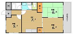 タナカハイツ[3階]の間取り