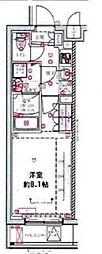 都営三田線 西台駅 徒歩10分の賃貸マンション 5階1Kの間取り