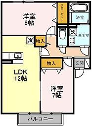 エストコリーヌ2番館[2階]の間取り