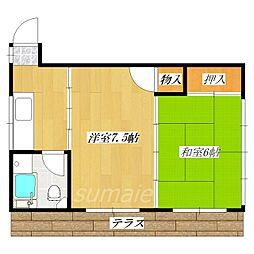 ガードマンション[101号室]の間取り