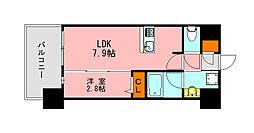 仮称)LANDIC K2620 6階1LDKの間取り