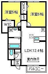 コートプラセールA[1階]の間取り