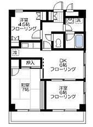 鎧橋ビル[6階]の間取り