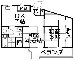 丸強マンション[2階]の間取り