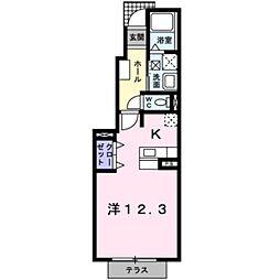 フォレストヒルズ2号館[103号室]の間取り