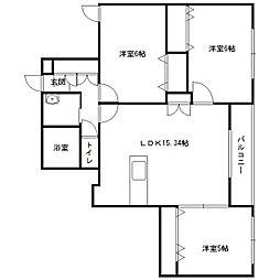 仮)発寒6-5MS[305号室]の間取り