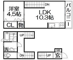 Casa Horizon korien 2階1LDKの間取り