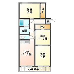 マンションHU[2階]の間取り