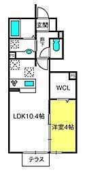 埼玉県さいたま市西区西大宮1丁目の賃貸アパートの間取り