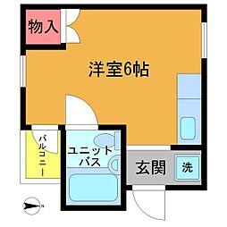プレステージ横田[302号室]の間取り