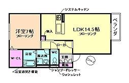 大阪府豊中市少路2丁目の賃貸アパートの間取り
