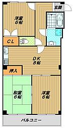 ロイヤルコートナグラ[2階]の間取り