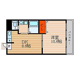 滋賀県彦根市山之脇町の賃貸マンションの間取り