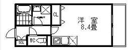 エスタジオ荻窪 1階ワンルームの間取り