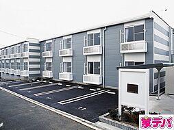 愛知県蒲郡市三谷町七舗の賃貸アパートの外観
