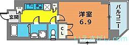 兵庫県神戸市兵庫区塚本通6丁目の賃貸マンションの間取り